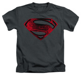Youth: Man of Steel - Red And Black Glyph T-Shirt