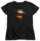 Womans: Man of Steel - Grungy Shield T-shirts