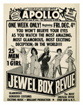 Apollo Theatre Jewel Box Revue: Gorgeous and Glamorous, 25 Men and 1 Girl Poster