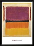 Ohne Titel (Violett, Schwarz, Orange, Gelb auf Weiß und Rot), ca. 1949 Poster von Rothko Mark