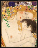 Mother and Child (detail from The Three Ages of Woman), c.1905 Posters by Klimt Gustav