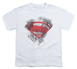 Youth: Man of Steel - Face & Logo T-shirts