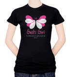 Womens: Butterfly Girl Unfading Beauty T-shirts
