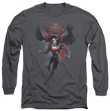 Long Sleeve: Man of Steel - MoS Distressed T-shirts