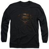 Long Sleeve: Man of Steel - MoS Glyph Shield T-shirts