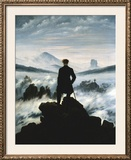 The Wanderer Above the Sea of Fog, c.1818 Prints by Friedrich Caspar David