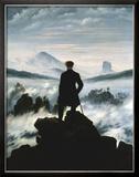 Vandrer over tåkehav, ca. 1818 Posters av Caspar David Friedrich