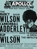 Apollo Theatre: Nancy Wilson, Cannonball Adderley, Duke Pearson, Flip Wilson, and The Impacts; 1968 Prints