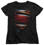 Womans: Man of Steel - Large Shield T-shirts