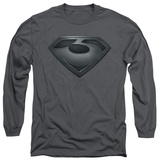 Long Sleeve: Man of Steel - Zod Shield T-shirts