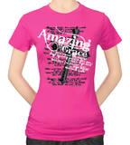Womens: Amazing Grace Pink T-shirts