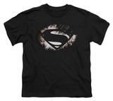 Youth: Man of Steel - MoS Shield Fracture Shirts