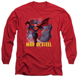 Long Sleeve: Man of Steel - Fly By T-shirts