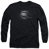 Long Sleeve: Man of Steel - MoS Shield Burst T-Shirt