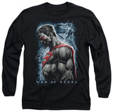 Long Sleeve: Man of Steel - Steel Rain T-Shirt