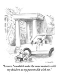 """""""I swore I wouldn't make the same mistakes with my children as my parents …"""" - New Yorker Cartoon Premium Giclee Print by Pat Byrnes"""