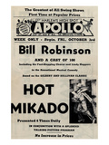 Newspaper Ad Proof Sheet for Apollo Theatre: Bill Robinson in Hot Mikado Reproducción en lienzo de la lámina