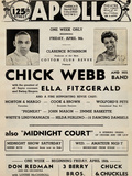 Apollo Theatre  Handbill: Chick Webb, Ella Fitzgerald, Cook and Brown, Wolford's Pets and More Prints