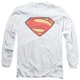 Long Sleeve: Man of Steel - New Solid Shield T-Shirt
