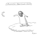 Australia's Short-Lived God - New Yorker Cartoon Reproduction procédé giclée Premium par Zachary Kanin