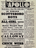 Apollo Theatre: Scottsboro Boys, Blanche Calloway, Chick Webb, Ella Fitzgerald, and More Posters