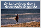 The Best Surfer Duke Kahanamoku Quote Poster Posters