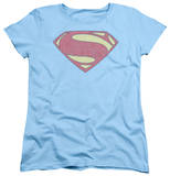 Womans: Man of Steel - New MoS Distessed Shield T-Shirt