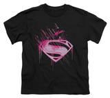 Youth: Man of Steel - Pink Splatter Shirts