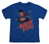 Youth: Man of Steel - Lightning Power Shirts