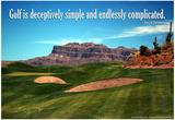 Arnold Palmer Golf Quote Poster Billeder