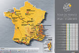 Le Tour de France (2013 Map Prints