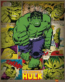 Marvel Comics - Incredible Hulk (Retro) Kunstdruck