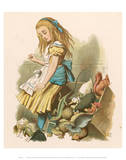 Alice with squirrel Poster