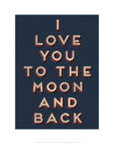 To the Moon and Back Giclee Print