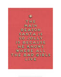 Santa is Jolly Poster