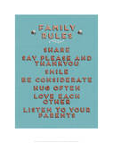 Family Rules Giclee Print