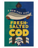 Fresh Salted Cod Affiches