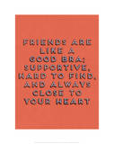 Friends Are Like Bras Giclee Print