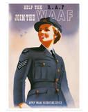 Join the WAAF Umělecké plakáty