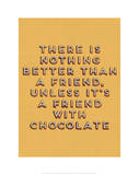 Friend with Chocolate Giclee Print