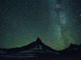 Night Sky over Glacier National Park, Montana. Photographic Print by Steven Gnam