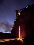 Arroyo Grande: a View of a Barn at Night Lit from the Inside. Photographic Print by Ian Shive