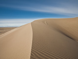 Great Sand Dunes, Co: a Sandy Ridge Line Vanishes into the Horizon Photographic Print by Brad Beck