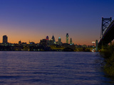 Philadelphia Skyline at Dusk Photographic Print by James Shive