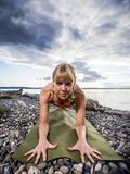 Sphynx Pose on the Beach of Lincoln Park - West Seattle, Washington Photographic Print by Dan Holz