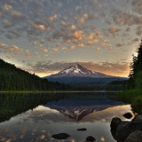 Mount Hood Sunrise from Trillium Lake, Oregon Photographic Print by Al Stern