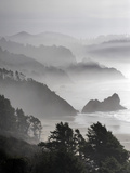 A Foggy Day on the Oregon Coast Just South of Cannon Beach. Reprodukcja zdjęcia autor Bennett Barthelemy