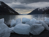 Icebergs Calved by Portage Glacier on the Shore of Portage Lake, Chugach State Park, Alaska. Photographic Print by Ethan Welty
