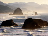Cannon Beach Seen from Ecola State Park, Oregon. Photographic Print by Bennett Barthelemy