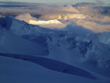 Mt. Mckinley (Denali) Expedition - Crevasses and Ridges under the Midnight Sun Photographic Print by Alex Harz